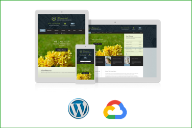 MEMORIAL Plantilla WordPress Premium en Google Cloud Platform